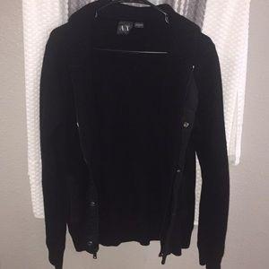 AX Armani Exchange black jacket whip zip hoodie